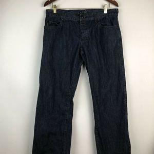 Armani Jeans AJ Straight Leg Classic Wash Jeans